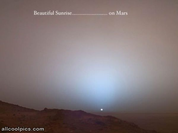 Beautiful Sunrise On Mars