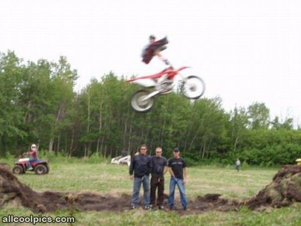Cool Bike Jump Pose