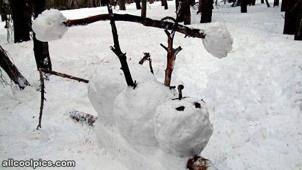 Cool Snowman Weight Lifting