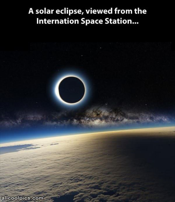 Cool Solar Eclipse Photo