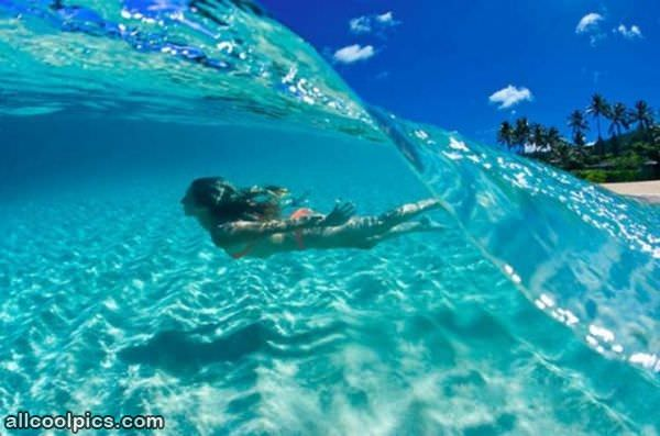 Cool under water wave