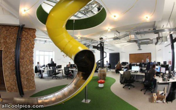 Coolest office in the world cool pictures Top interior design companies in the world