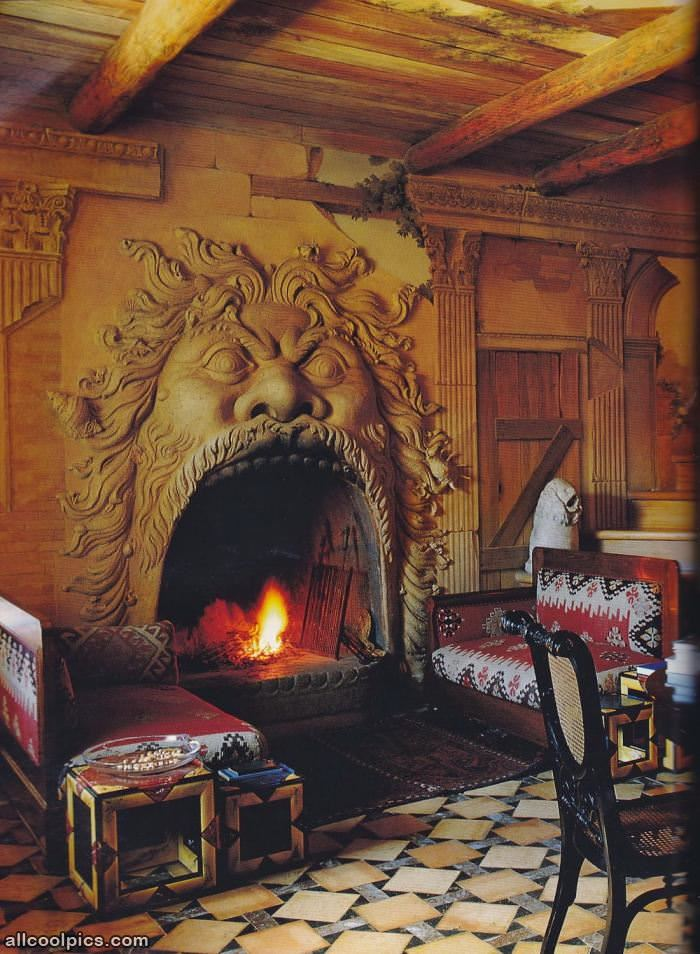 That Is A Cool Fireplace